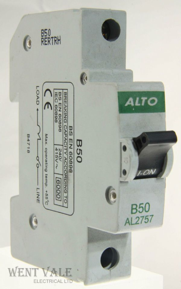 Alto AL2757 - 50a Type B Single Pole MCB Unused